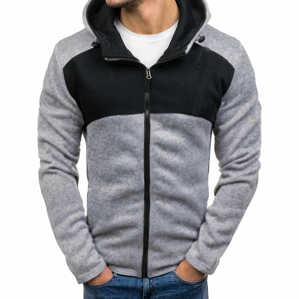Теплая мужская спортивная куртка с пуговицами, пуловер, Мужская одежда, топы, блузка, верхняя одежда, одежда с длинным рукавом, пальто с капюшоном