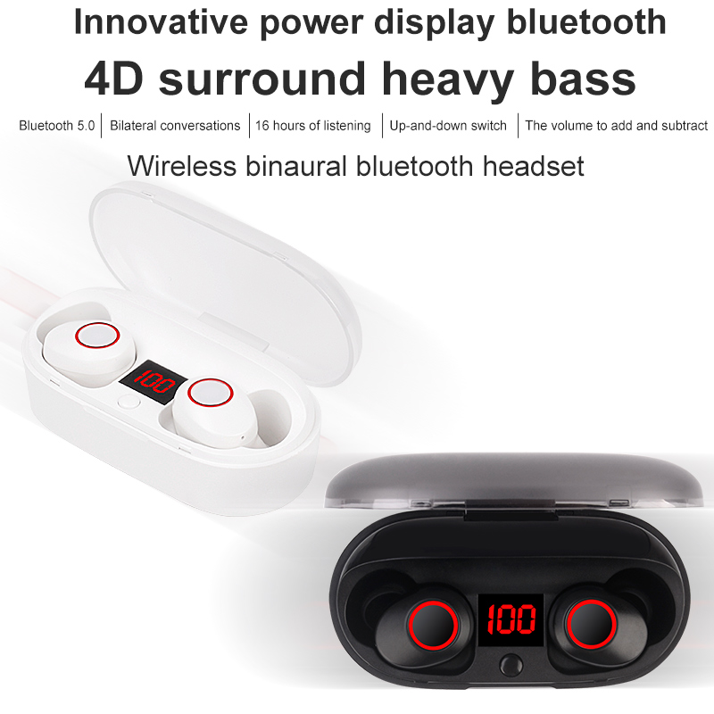 J29 tws Bluetooth 5 0 waterproof Earphone Mini Wireless Earbuds HIFI 3D Stereo with microphone with charging box in Phone Earphones Headphones from Consumer Electronics