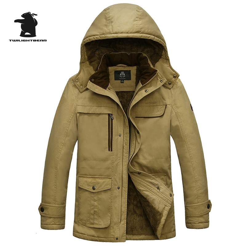 2016 Brand Casual Cotton Lined Jacket New Fashion High Quality Winter Jacket Men Fleece Warm Coat Parkas M~5XL C16E56015 faux suede fleece lined winter coat