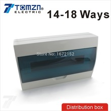 14  18 ways Plastic distribution box for circuit breaker indoor on the wall