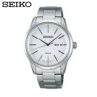 SEIKO Watch Solar Business Leisure Quartz Watch Waterproof Men' S Steel Strap Watch SSC061J1 SNE297J1 SNE299J1 SNE081J1 SNE131J1