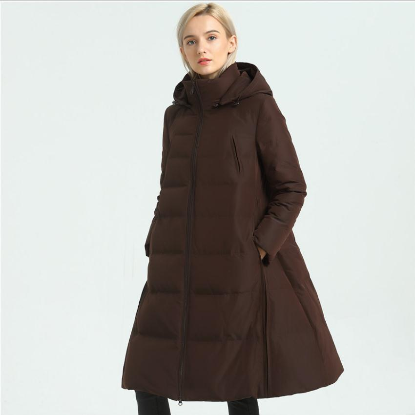 S-2XL 90% duck   down     coat   fashion brand about 1.5kg thicker   down   jacket female high Pile up collar thicker warm   down     coat   wq332