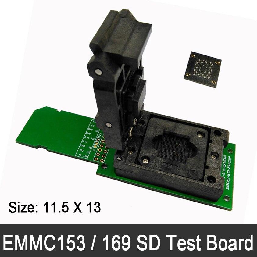 FBGA153 FBGA169 eMMC Test Board flip shrapnel switch SD