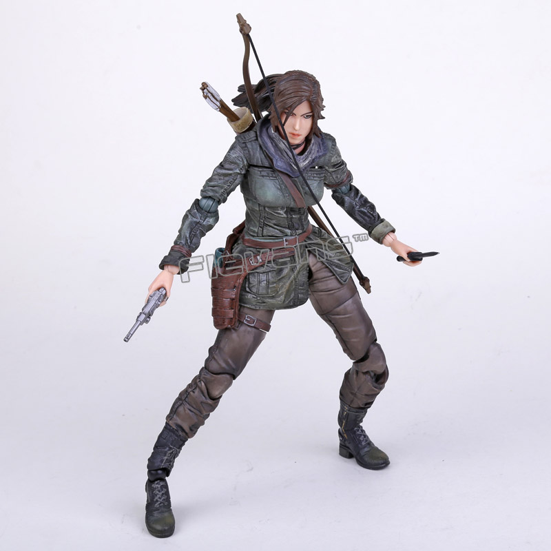 Square Enix Play Arts Kai Rise of the Tomb Raider: Lara Croft PVC Action Figure Collectible Toy 27cm игра для xbox microsoft rise of the tomb raider