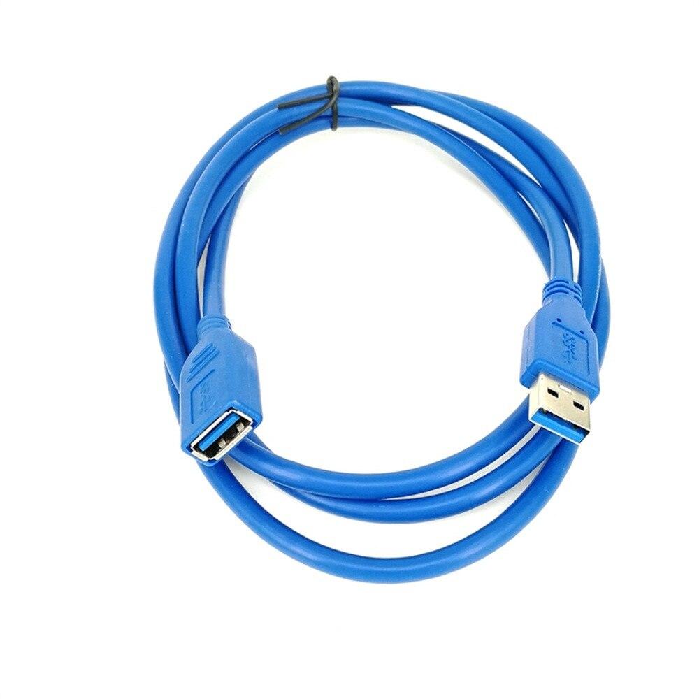 USB кабель-удлинитель для 0,5/1/1,5/3/5 M USB 3,0 мужского и женского пола прочный удлинитель Дата-кабель, шнур синхронизации 5 Гбит/с#12 - Цвет: Синий