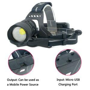 Image 4 - 헤드 램프 헤드 램프 헤드 라이트 손전등 토치 원래 3 전구 Xhp70.2 Led 18650 배터리 Litwod 줌 입/출력 리튬 이온