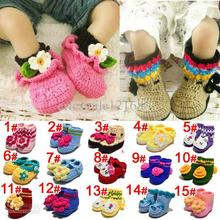 Fashion 100 Handmade Baby Crochet Shoes First Walkers infant Shoes Baby crochet shoes