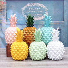 BUF Resin Pineapple Piggy Bank Cute Gift Home Decoration Cash Coin Saving Box Creative House Money Ornament