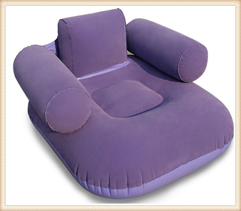 Inflatable Sofa Portable Flocking Sofa Living Room Furniture Single Inflatable Furniture Bean