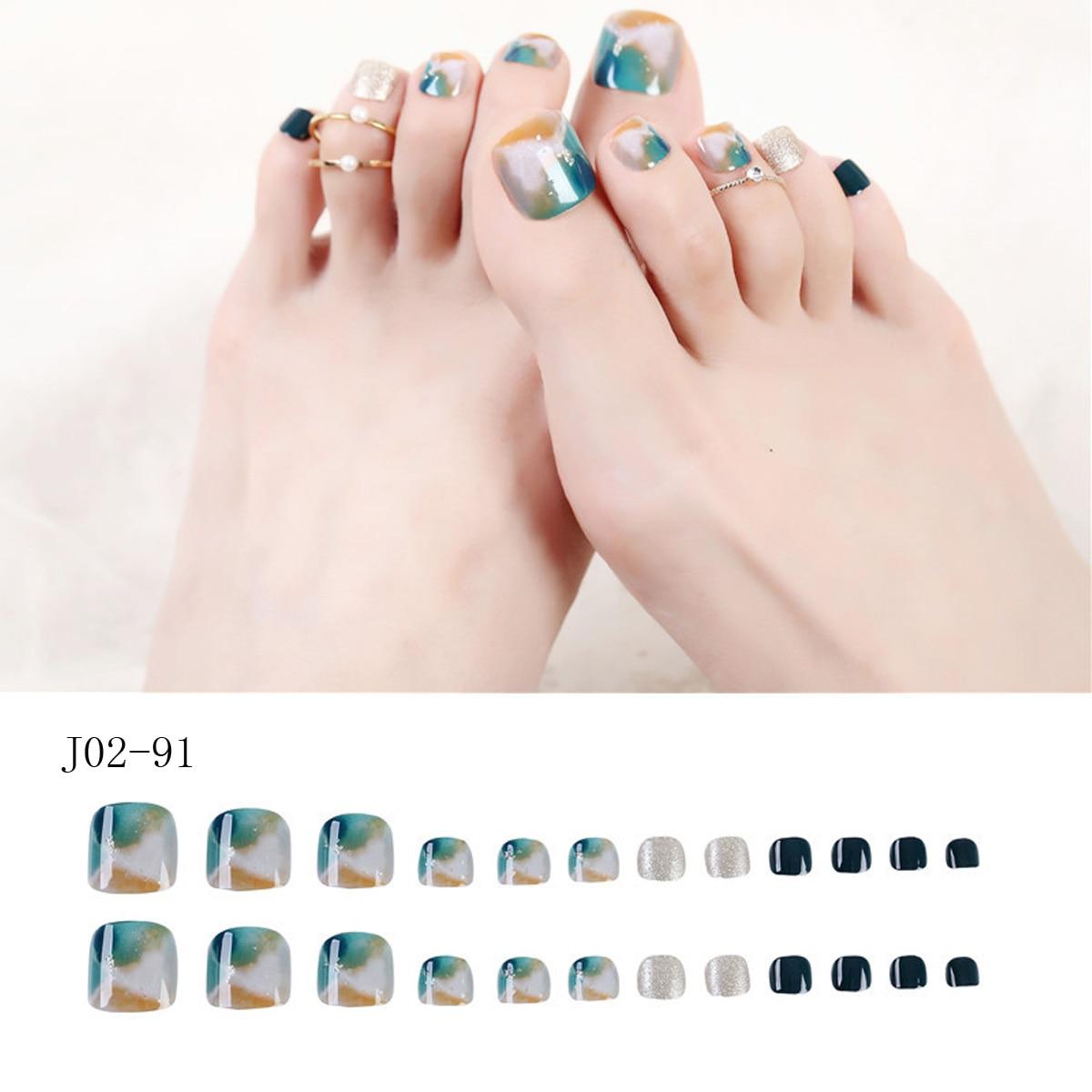 Купить 24 шт роскошные стразы с фальшивым носком для ногтей маникюрные