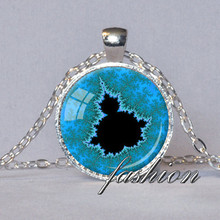 MANDELBROT SET PENDANT Math Jewelry Mandelbrot Jewelry Gift for Geek Gift Fractal Jewelry Fractals Science Necklace Blue Black
