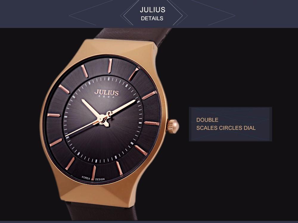 Julius Men Watch Stainless Steel Band Analog Display Quartz Wristwatch (10)