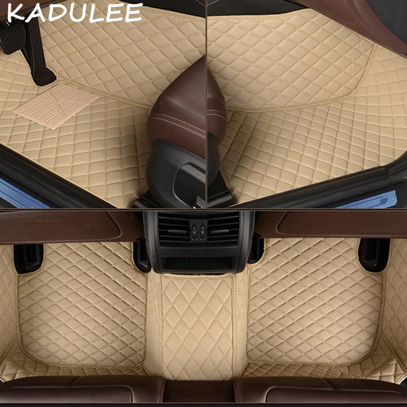 KADULEE PU leather car floor mat for Mercedes benz E Class w211 2005 2016 2017 2018 Custom auto foot Pad automobile carpet cover