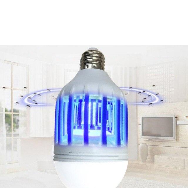 1 pièces mouche tueur moustique tueur intégré dans le piège à insectes ampoule avec LED ampoule sadapte dans 110 V ou 220 V ampoule prise
