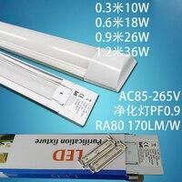 10 pçs/lote novo 36 w 48 polegada de purificação de led luzes led luzes do painel de teto lâmpada de led grille substituir t8 4ft 120 cm t5 led tubo de luz