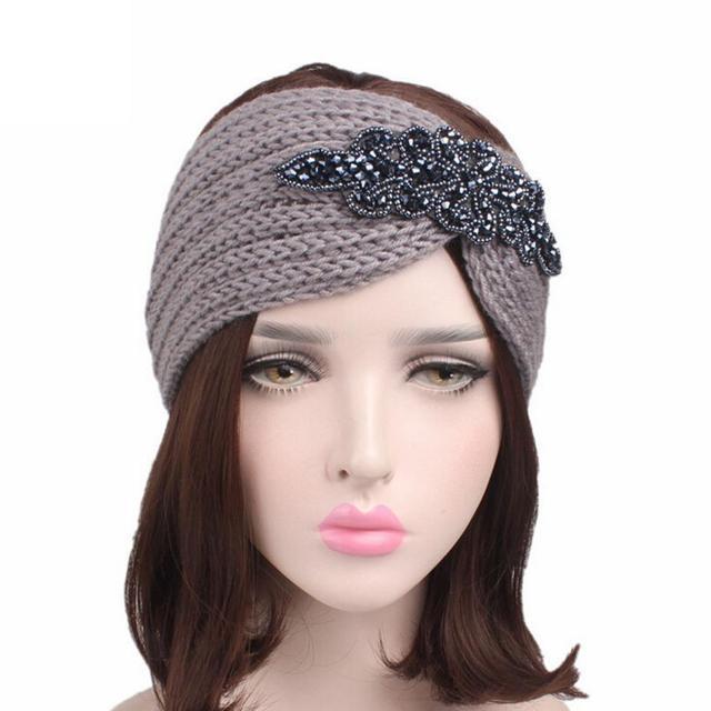 2018 Women Knitting Headband Handmade Keep Warm Hairband Winter Ear Warmer  Headband for women ladies Hair Band Accessories e3bb6a254a8