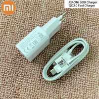 Chargeur rapide d'origine XIAO mi 12 V/1.5A QC3.0 adaptateur USB type C câble de données pour mi F1 A1 A2 5 6 8 9 SE rouge mi S1 S2 Note 7 k20 Pro