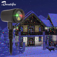 New Year Christmas Lights Laser Projector Outdoor Decoration For Home Red Green Motion Fairly Light Waterproof With Timer