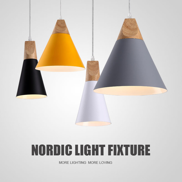 Hang Lampen Pendelleuchten Holz Und Aluminium Restaurant Bar Kaffee  Esszimmer LED Hängeleuchte