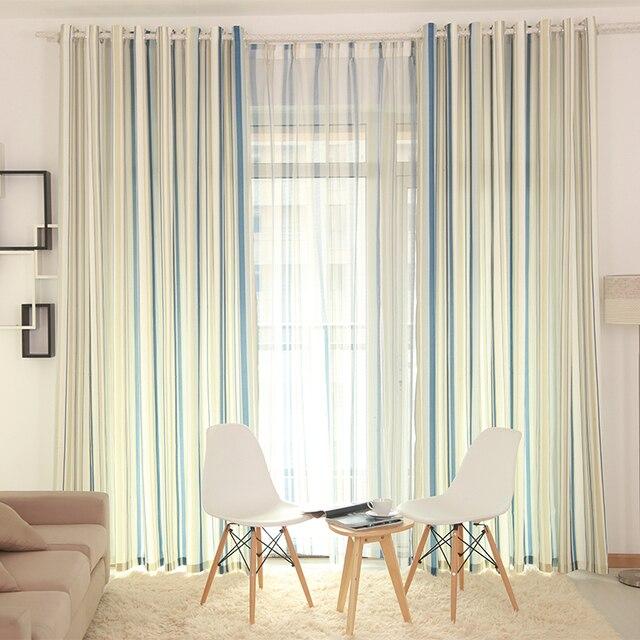 Las de estilo mediterráneo semi tono azul rayas verticales