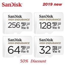 SanDisk tarjeta microSD U1 de alta resistencia, 32GB, hasta 100 MB/s, 64GB, 128GB, 256GB, Clase 10, velocidad de vídeo U3 V30 Full HD 4K