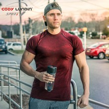 Men summer gyms t shirt Fitness Bodybuilding Crossfit Cotton Shirts Short Sleeve workout male fashion Casual Tee Tops clothes