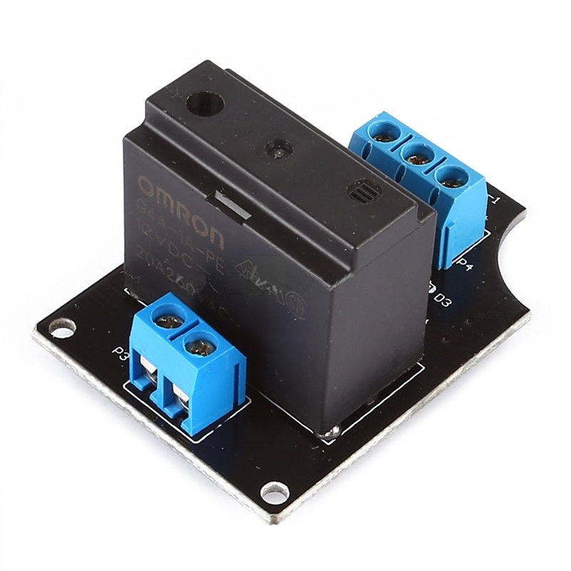 12VDC 20A 250VAC 1 Channel G4A-1A-PE OMRON Solid State Relay Module For Arduino12VDC 20A 250VAC 1 Channel G4A-1A-PE OMRON Solid State Relay Module For Arduino