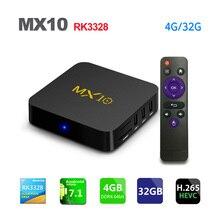 MX10 Android 7.1 Smart TV BOX 4GB DDR4 32GB EMMC RK3328 Quad Core 4K HDR 2.4GHz WIFI USB 3.0 Set Top Box Media Player PK X92 H96