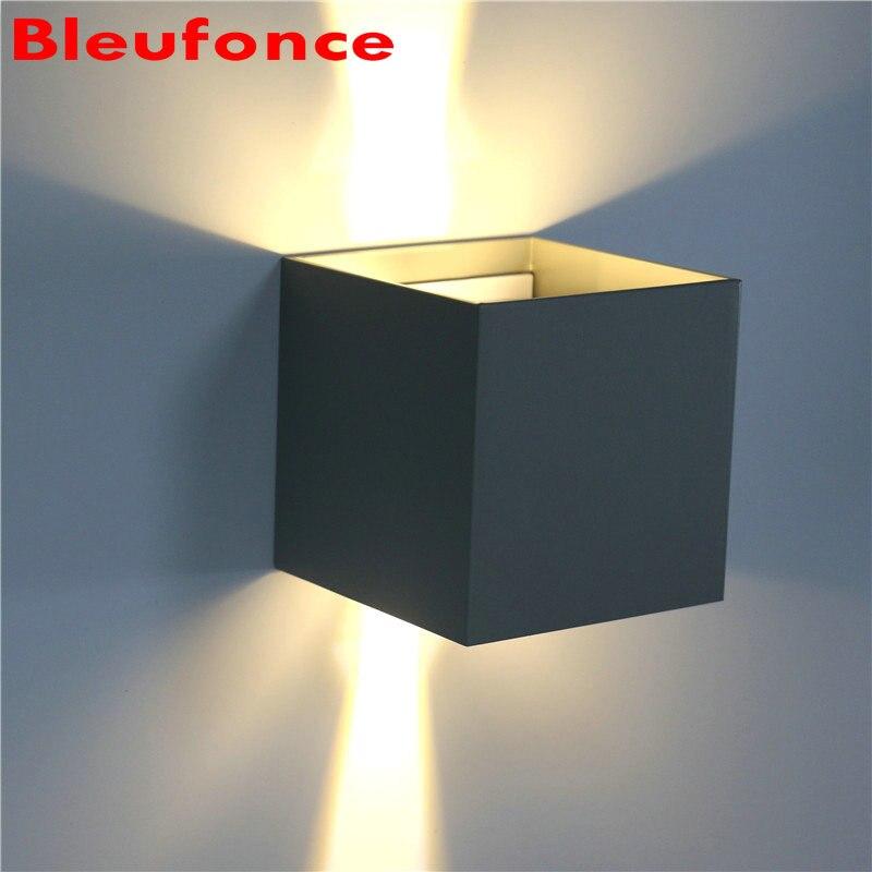 ФОТО 7W IP65 COB LED Waterproof Outdoor Wall Lamp Aluminum Up and Down Adjustable Lighting Porch Garden Lights AC85-265V NB75