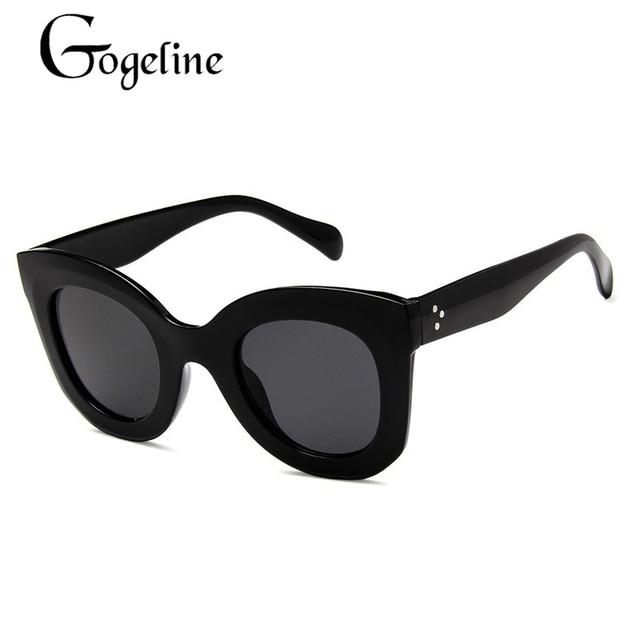 9697a940d4 Gogeline Butterfly Sunglasses 2018 Big Retro UV400 Cat Eye Glasses Nice Sunglasses  Women Black Frame C0075