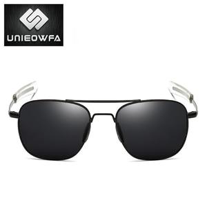 Image 4 - UNIEOWFA Männlichen Klassischen AO Sonnenbrille Männer Polarisierte Fahren UV400 Goggle Sonnenbrille Für Männer Polaroid Legierung Platz Pilot Sunglas