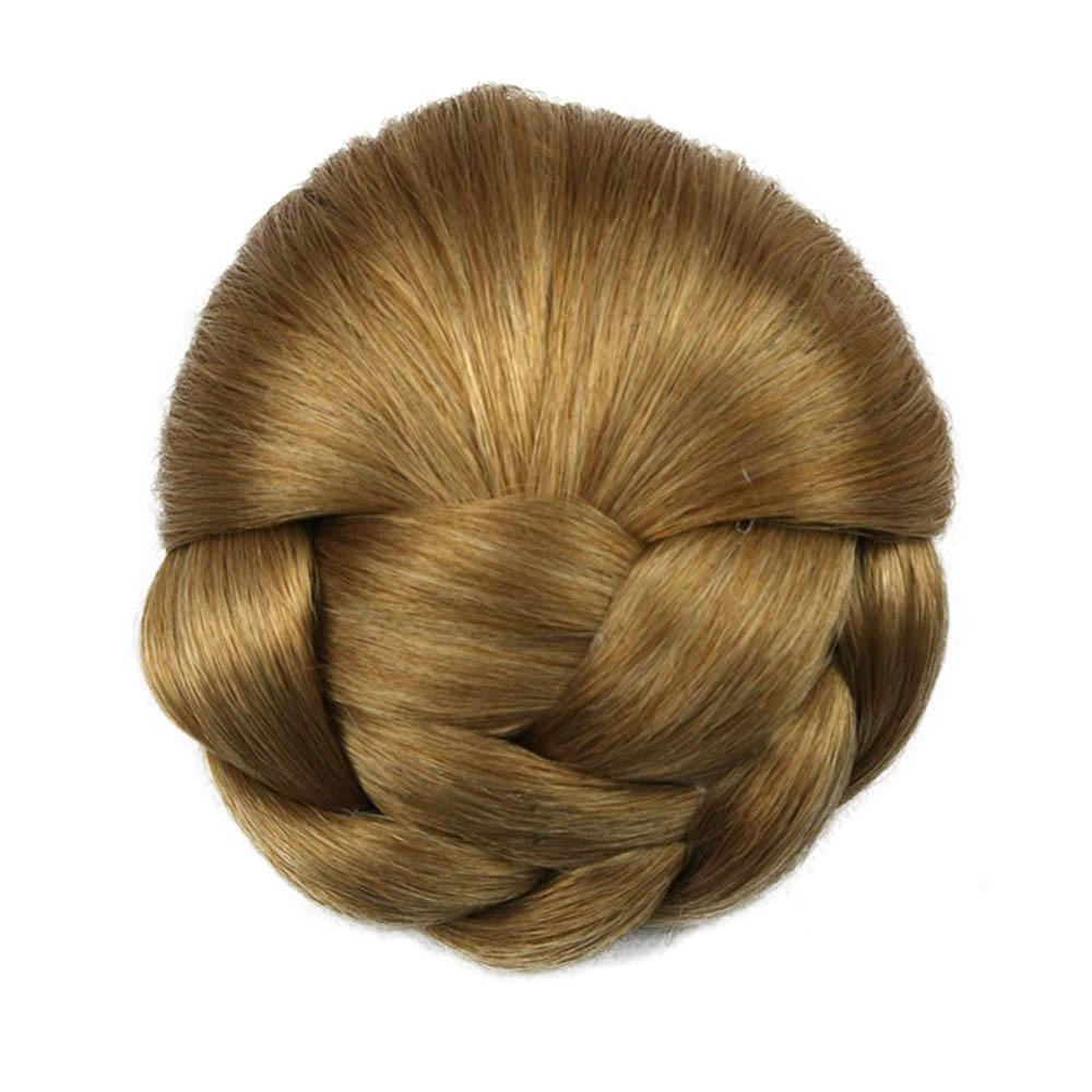 Gres Heat Resistant Fiber 6 Colors Women Clip-in Braided Chignon Synthetic Hair Buns for Brides