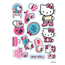 13pcs/lot pink hello kitty cat Notebook skateboard trolley case decals backpack Tables sticker PVC waterproof car toy sticker(China)