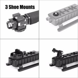Image 5 - Pro câmera estabilizador triplo sapato montagem suporte de vídeo vídeo aperto flash adaptador montagem para gopro nikon dslr slr iphone x 8