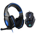 7 Buttons Professional Game Mice Gaming Mouse Pro Gamer+EACH Stereo Gaming Headphones LED Light Over-ear Game Headset Headband