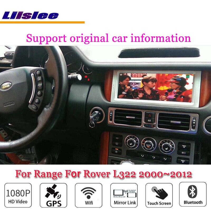 L322 Liislee Android Carro Multimídia Para O Intervalo Para Rover 2000 ~ 2012 Mapa GPS de Navegação Navi Radio Stereo Vídeo Wi-fi sistema Não DVD