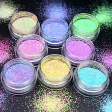 (1Pcs/Sell) 12 Colors Glitter Nails 3d Slice Powder Set DIY Design Nail Art Sequins Decoration Fashion Accessories(China)