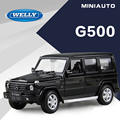 Original Box 1:24 WELLY  Mercedes Benz G500 Alloy Diecast Car Model Toy Car model Electronic Car with Kids Toys Gift