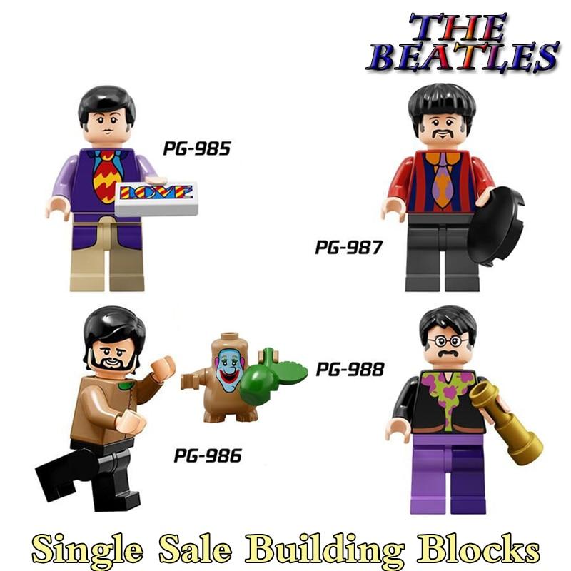 1PC Ringo Starr Paul McCartney George Harrison diy figures Star Wars The Beatles Building Blocks Bricks Kids Xmas Gift Toys