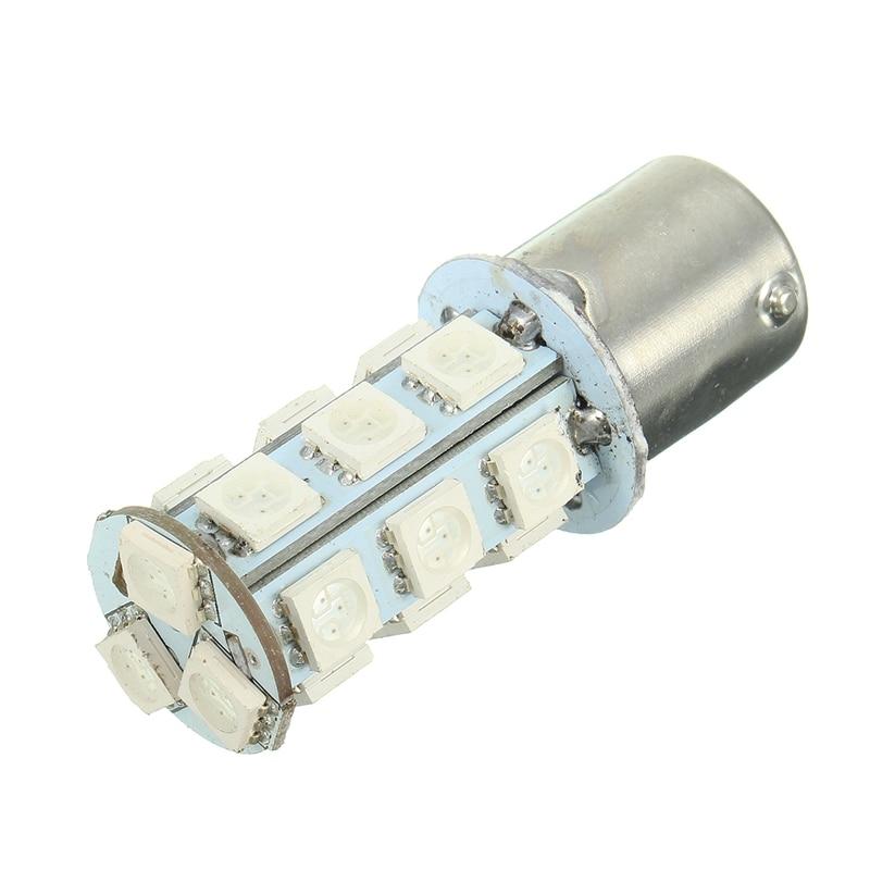 LED Bulb 18 SMD 5050 Turn Signal/Brake/Reverse/Parking Light Yellow 150 Degrees BAU15s/1056/7507/PY21W Auto Led Bulb 12V 27 smd 5050 led bulbs turn brake backup reverse tail light yellow 150 degrees bau15s py21w auto led bulb 12v