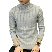 Men turtleneck sweater 2018 winter leisure sweater black white Long Sleeve Pullovers Christmas Knit Sweater Free shipping