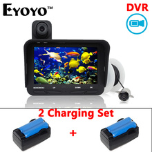 Eyoyo Original 20m Professional Fish Finder DVR Video Recording 6 Infrared LED Underwater Fishing Camera+Extra Charging Set
