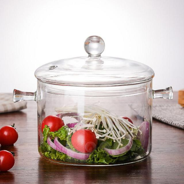 Transparent Glass Soup Pot
