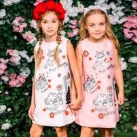 Milan Creations Princess Dresses Girls Clothes 2016 Brand Baby Girls Dress Summer Floral Pattern Kids Dresses
