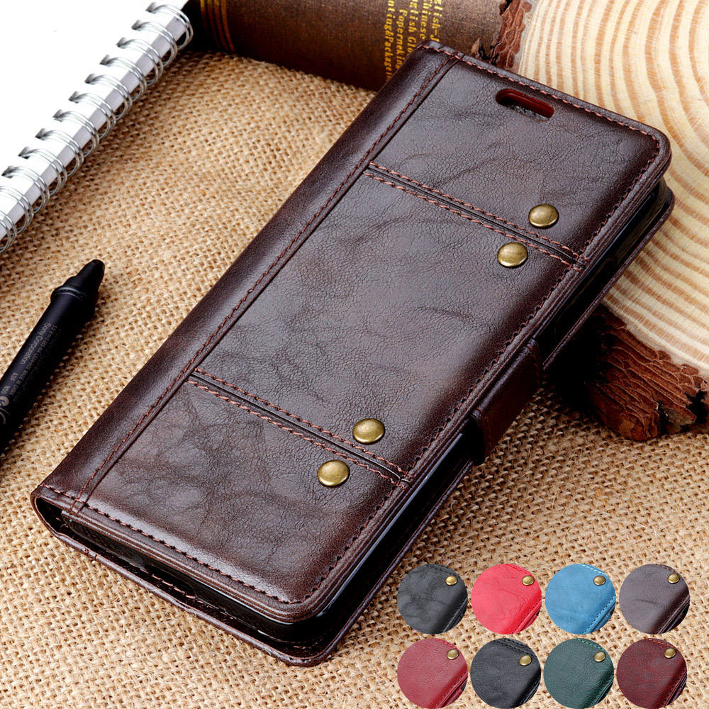 fone capa for <font><b>oneplus</b></font> 6t 1+6 1+6T Magnetic Business Book case For <font><b>Oneplus</b></font> 6 6T Leather Wallet Card Pocket <font><b>Flip</b></font> Stand <font><b>Cover</b></font> Case image