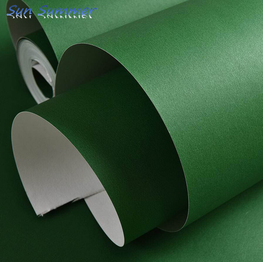 Solid color plain orange fruit green dark green thickening non woven wallpaper tv background wall wallpaper