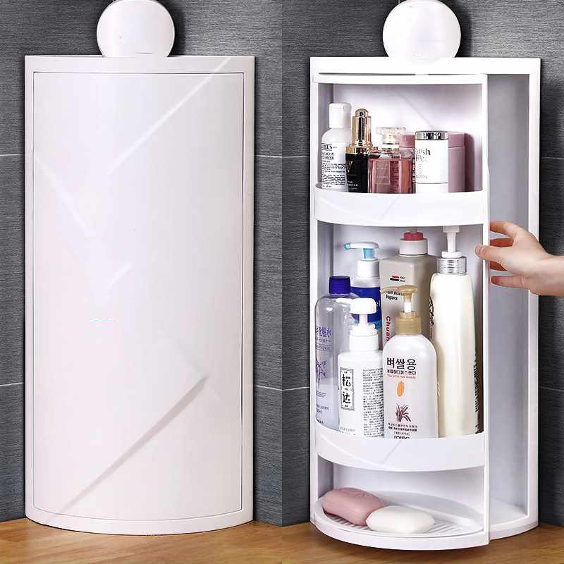 Multi Function Rotating Shelf Bathroom
