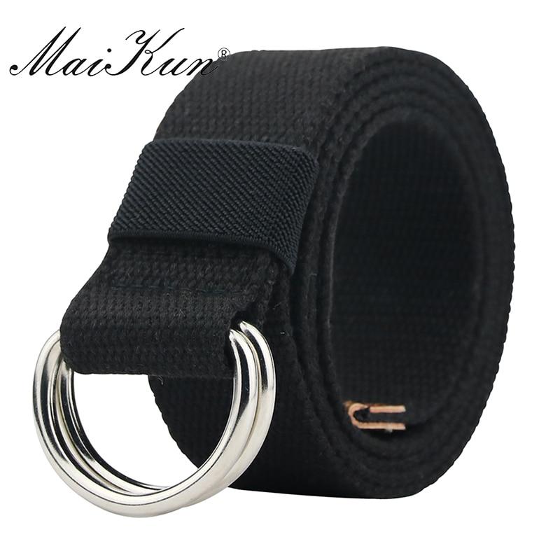 MaiKun Canvas Belts sievietēm Tactical Men Belt Metāla sprādzes - Apģērba piederumi