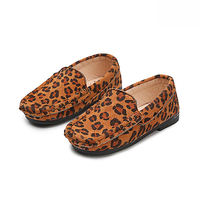Autumn Spring baby girls dough shoes kids brand loafers children casual shoes fashion zebra leopard print 1 to 5 yrs