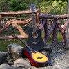 38 Inch Folk Guitar Basswood Guitar Metal Knob Acoustic Guitar Beginners Learn To Practice Guitar 6